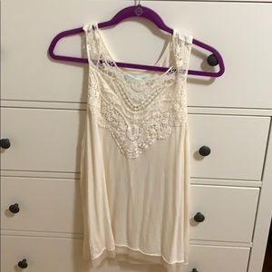 Cream, Lace Tank Top
